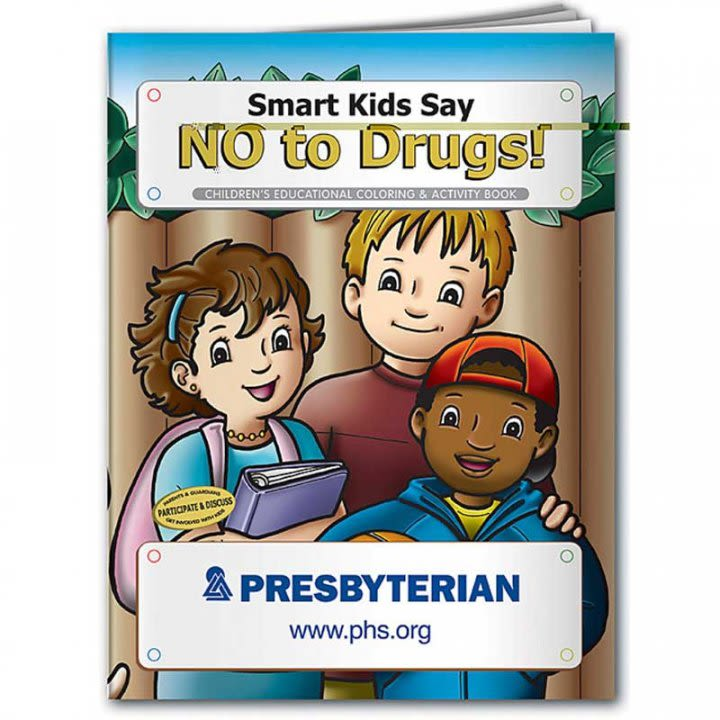 Custom Coloring Book Smart Kids Say No To Drugs Promo Color Book