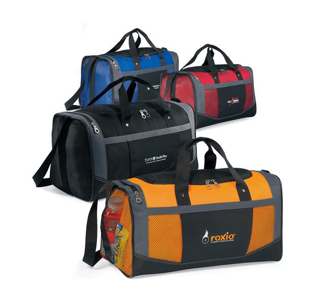 Flex Sport Duffel Bag Promotional Custom Imprinted With Logo 8e63783fe0d8d