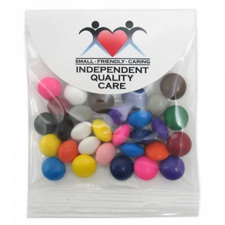 Chocolate Buttons in Header Bag - 1 Oz