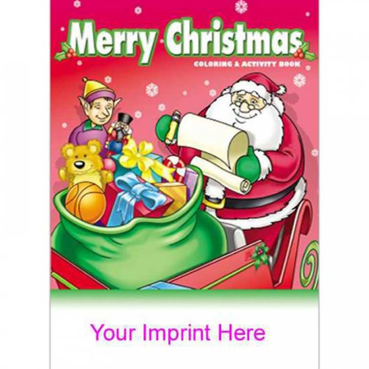 Custom Coloring Activity Book Merry Christmas Coloring Book