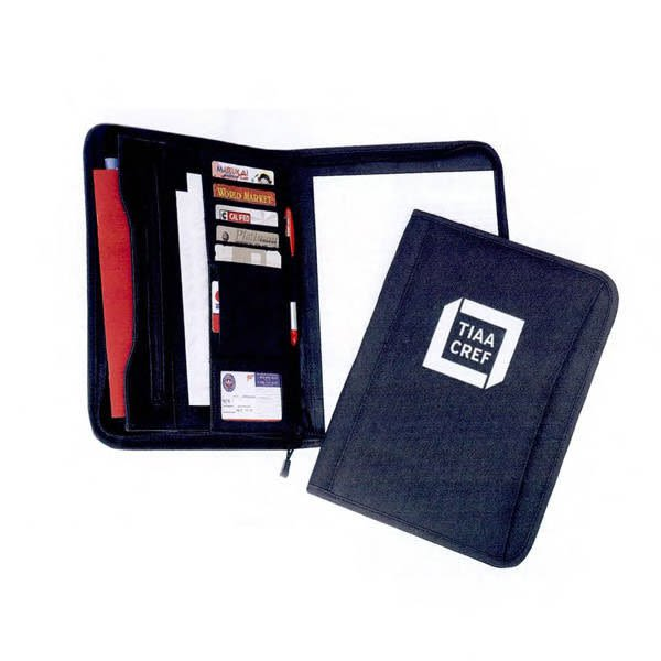 Polyester Zippered Padfolio