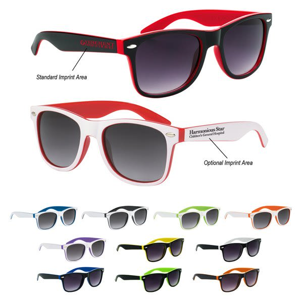 bb1129a3db Two-Tone Promotional Malibu Sunglasses