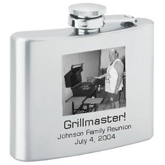 4 Oz Stainless Steel Personalized Flask