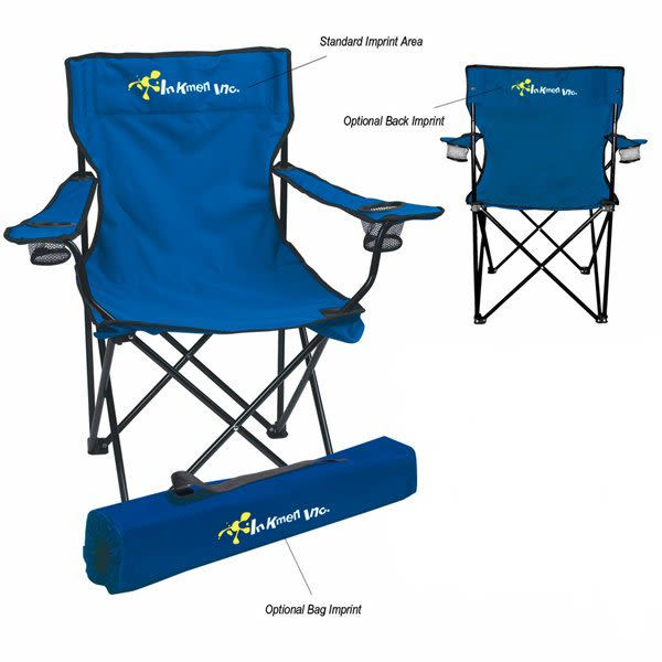 Customizable Promotional Fold Up Chairs   Outdoor Chairs With Business Logo    Royal Blue