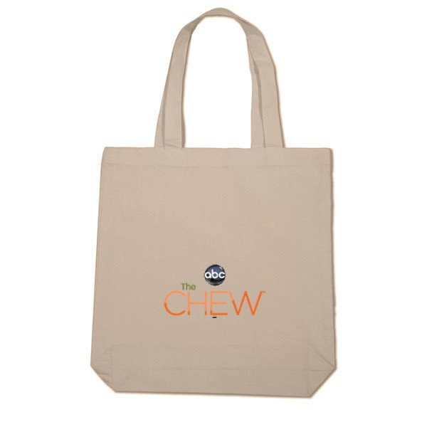 9968f51f6b62 Economy Natural Cotton Logo Tote Bag -3 Inch Gusset