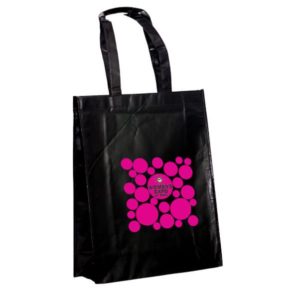 Laminated Promotional Recycled Tote Bag with Patent Finish d072c1241b
