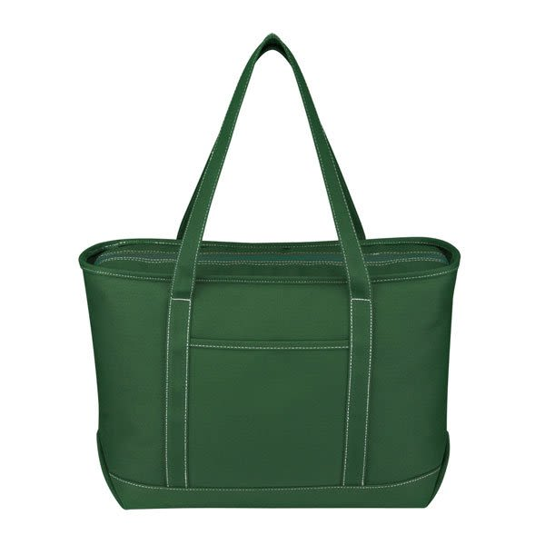 05a8264cb Forest Green Large Cotton Canvas Yacht Tote | Wholesale Boat Bags | Bulk  Canvas Tote Bags