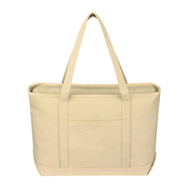 7e4d9b8f5 Natural Large Cotton Canvas Yacht Tote | Wholesale Boat Bags | Bulk Canvas  Tote Bags