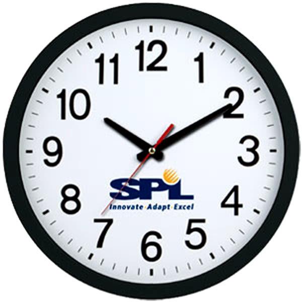 Extra Large Wall Clock With Custom Imprint Custom Company Clocks