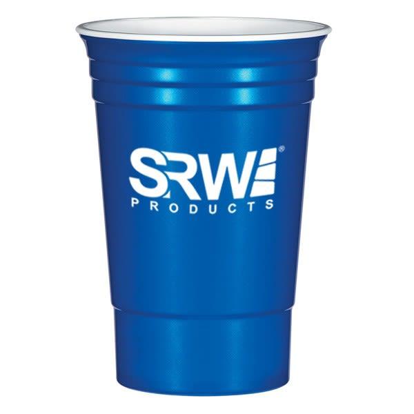 e81824c8967 Metallic Blue 16 oz Plastic Stadium Cups in Bulk | Promotional Plastic Cups  Wholesale | Sports