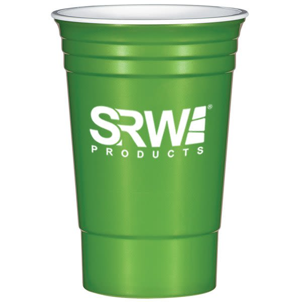 03f58198586 Metallic Green 16 oz Plastic Stadium Cups in Bulk | Promotional Plastic  Cups Wholesale | Sports