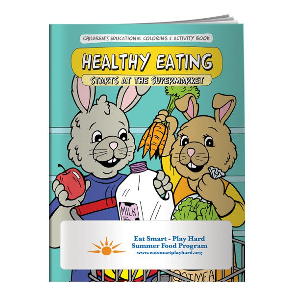 Children Nutritional Coloring Book-Imprinted Promo Coloring Book