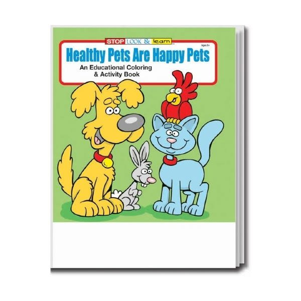 - Custom Coloring Book Healthy Pets Are Happy Pets Promo Books