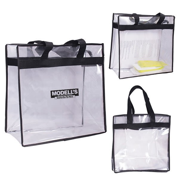 19d3f82c7df5 Clear NFL Tote Bag with Logo