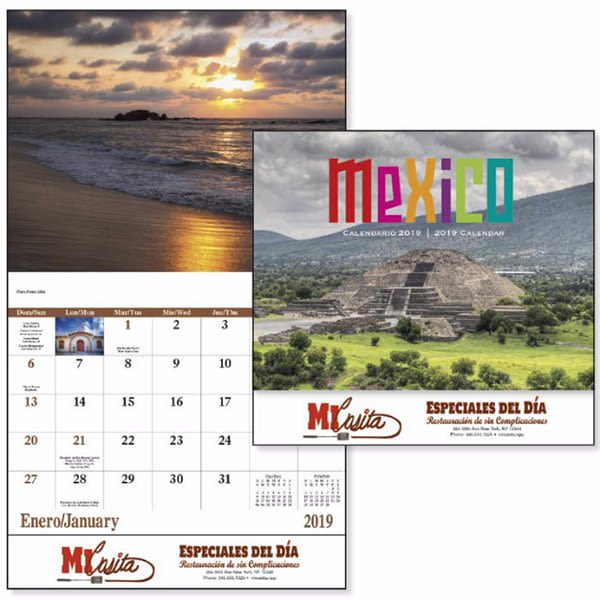 Economy Spanish Appointment Calendar - Mexico