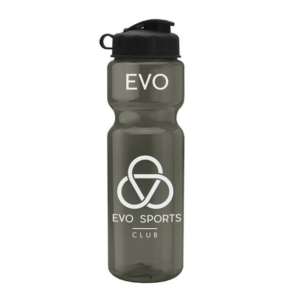 Large Transparent Flip Top Water Bottle Bulk Clear Sport