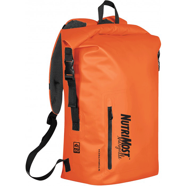 Orange Cascade Medium Custom Waterproof Backpacks  aa23b46abec9e