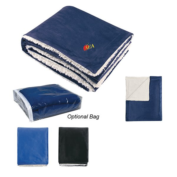 Promotional Embroidered Sherpa Blanket - Best Promotional Winter Blanket 469a0bac7