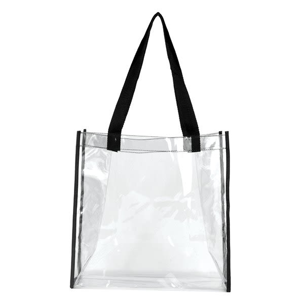 361cb29a10c Clear PVC Stadium Tote Bag With Imprint | Custom Promotional Tote Bag
