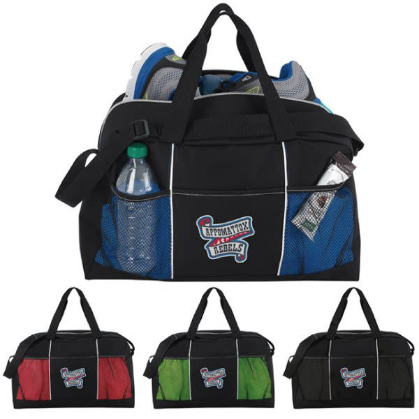 4f4cf1e4832 Stay Fit Duffel with Imprint   Personalized Duffel Bags Wholesale