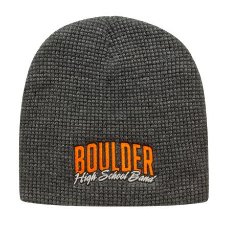 Custom Logo Embroidered Waffle Beanies - Dark Heather 656864734bfd