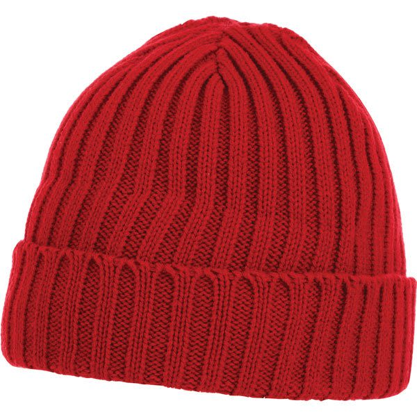 44bcad57eeb U-Spire Rib custom knit toques with embroidery - promotional winter hats -  Team Red