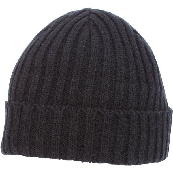 aedb9169f71 U-Spire Rib custom knit toques with embroidery - promotional winter hats -  Black