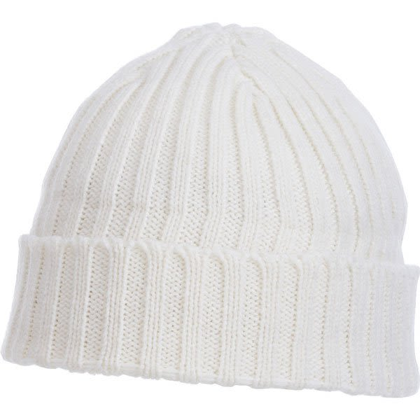 f98a5f3fc18 U-Spire Rib custom knit toques with embroidery - promotional winter hats -  White