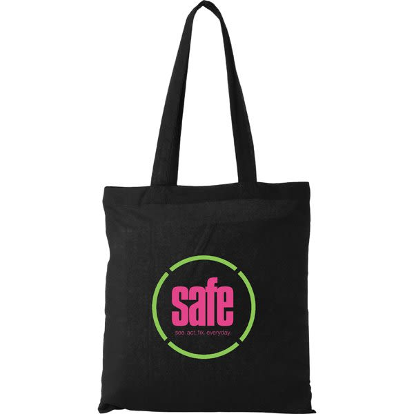 2a05e6e175 Black Personalized Cotton Canvas Tote Bags | Custom Imprinted Tote Bags for  Trade Shows | Best