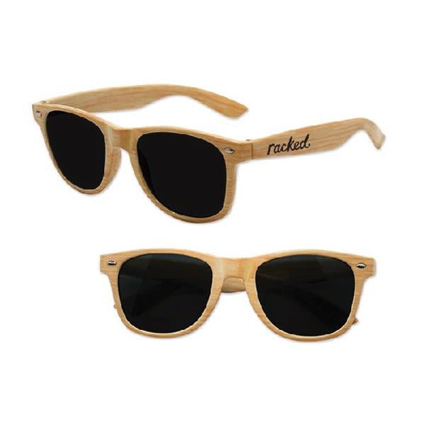 08be5595edeaa Imprinted Iconic Wood Grain Sunglasses