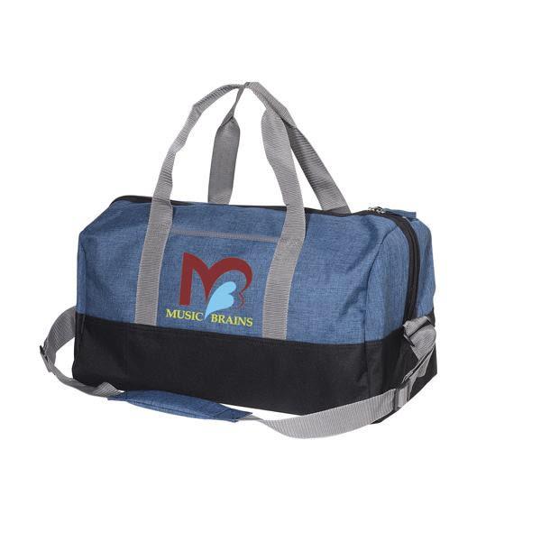 df5177ff64 Imprinted Strand Snow Canvas Duffel Bag - Blue