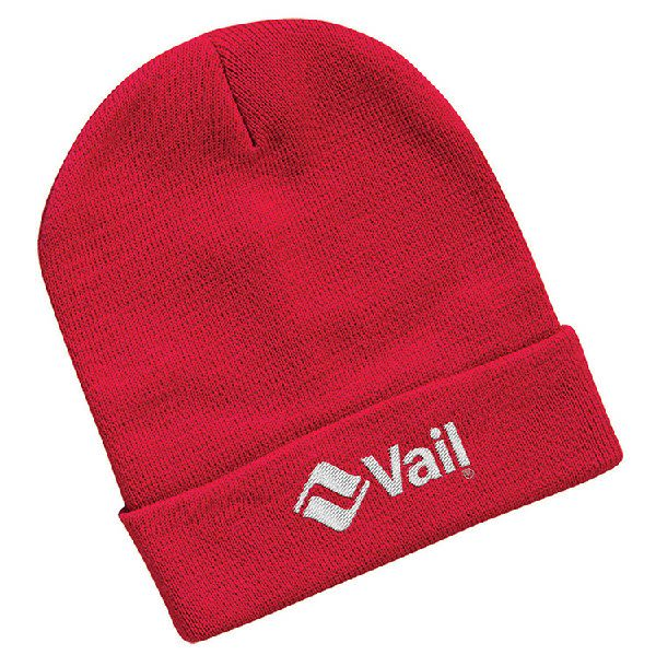 Sportsman 12†Knitted Wholesale Beanies with embroidered logo - Knit  toques - Red add8b803669