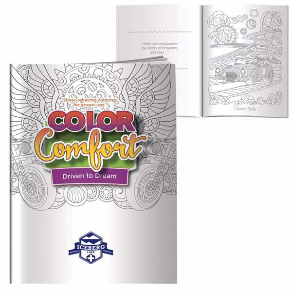 Adult Coloring Book Driven To Dream Promotion Custom Coloring Book