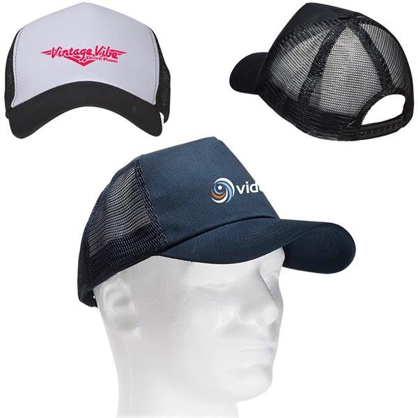 Trucker Hat Trader Genius White Logo