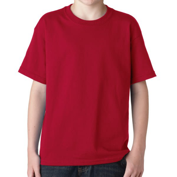 aa10b6200 Cardinal Red Gildan Youth Heavy Cotton T Shirt   Custom Printed Youth T- Shirts