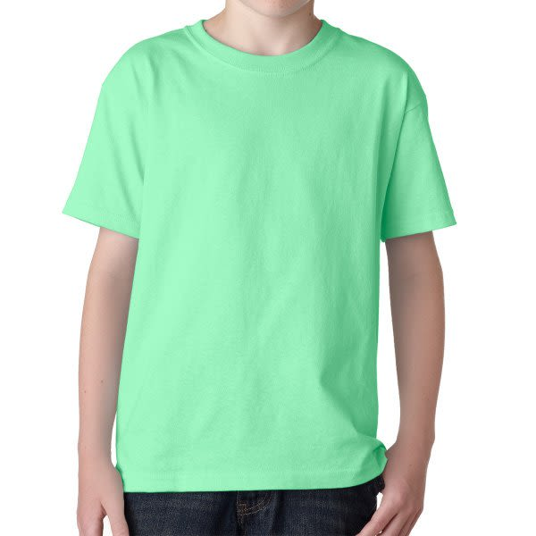 f14f58a8e Mint Green Gildan Youth Heavy Cotton T Shirt | Custom Printed Youth T-Shirts