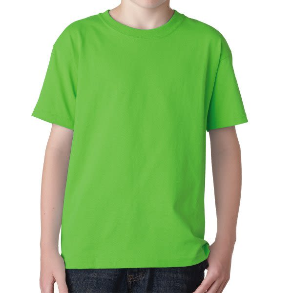 3077b9c1f Neon Green Gildan Youth Heavy Cotton T Shirt | Custom Printed Youth T-Shirts