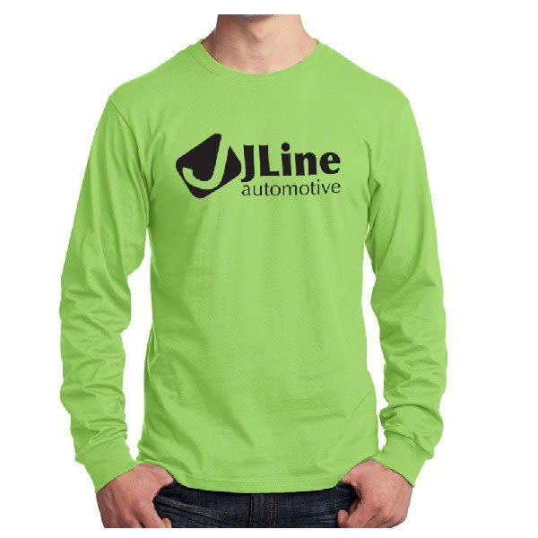6ac504859 Lime Port & Company Long Sleeve Color T-Shirt | Personalized Long Sleeve T-