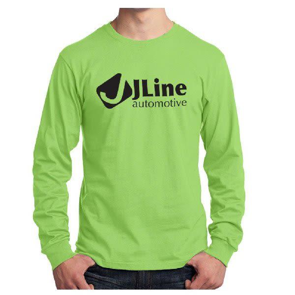 11577bad6f7 Long Sleeve Color Cotton T-Shirt-Port & Company
