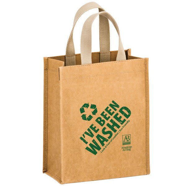 fbb18d2c510 Logo cyclone washable kraft paper tote bag promotional tote bags jpg  600x600 Washable tote bags