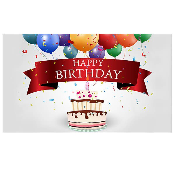 Birthday Personalized Greeting Card With Cake Candle Custom Cards