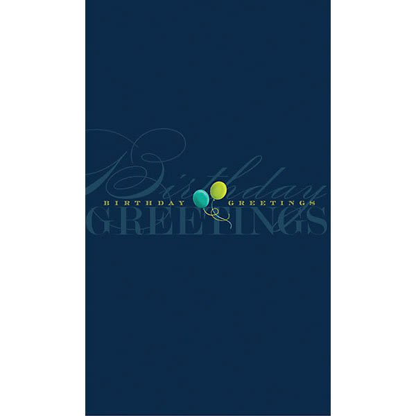 Promotional Balloon Greetings Birthday Card