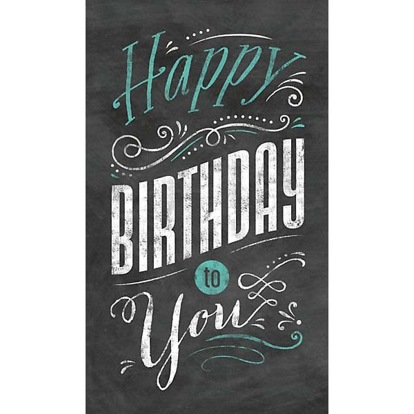 Custom Business Logo Imprinted Promotional Chalkboard Birthday Card
