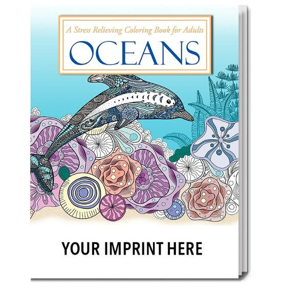 Custom Oceans Stress Relieving Adult Coloring Book Wholesale