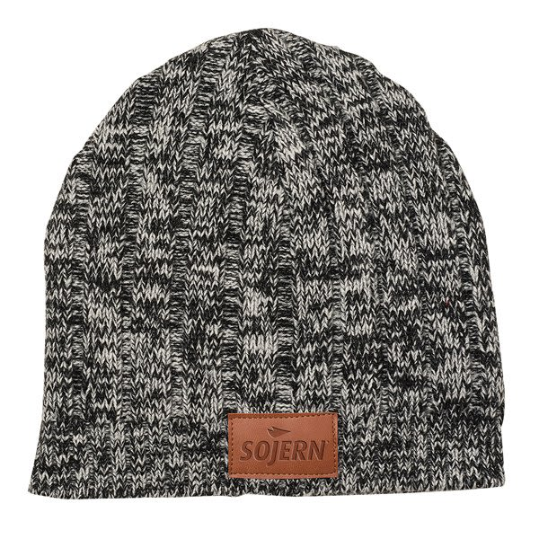 Custom Beanie with Leather Logo Patch - Winter Business Gifts 562861d868c