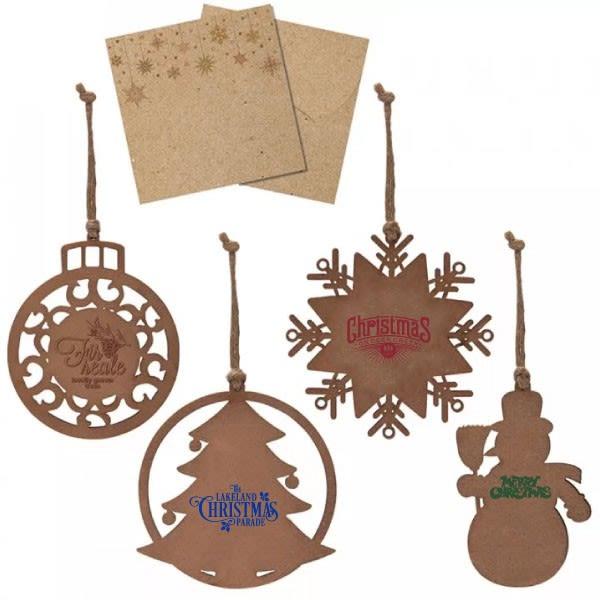 Wood Ornament In Kraft Envelope