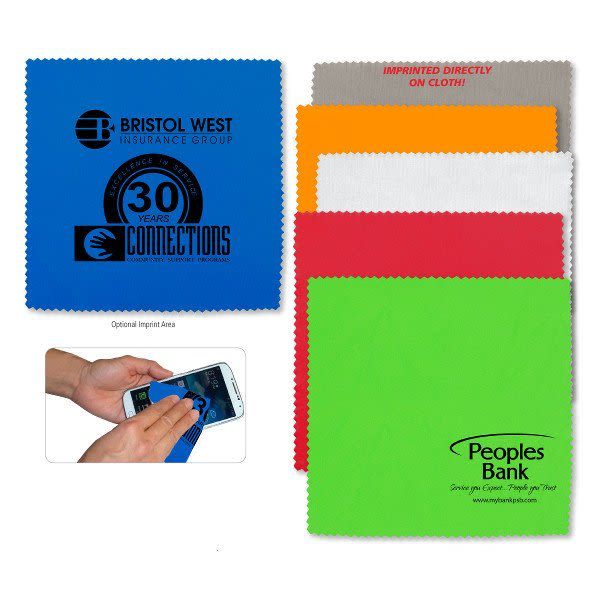 Microfiber Screen Cleaning Cloth Promotional: Promotional Microfiber Screen Cleaners