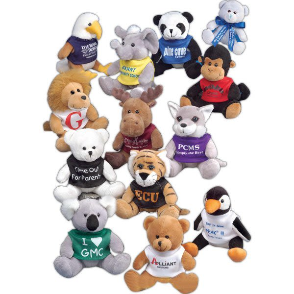 5 Q Tee Promotional Stuffed Animals Custom Stuffed Animals In Bulk