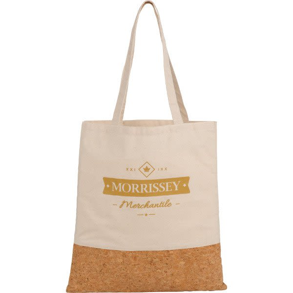 Imprinted Cotton and Cork Convention Tote - Natural b5ac1cdd4a4ce