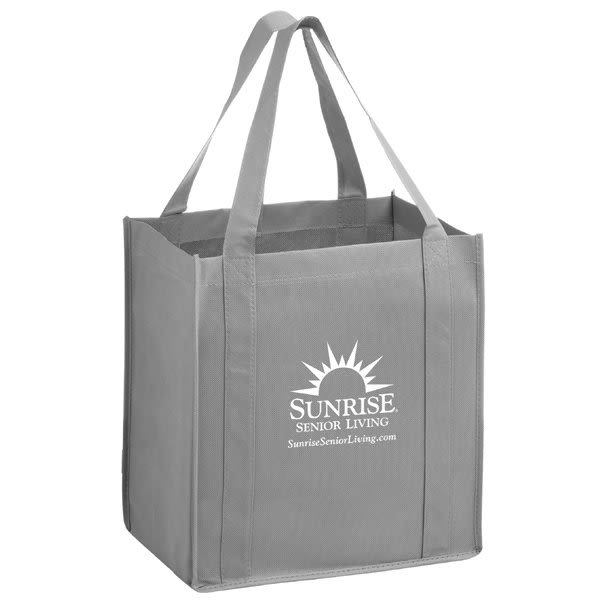 fade6de44 Custom Recycled Bags - Little Thunderbolt Heavy Duty Reusable Tote Bag -  Gray